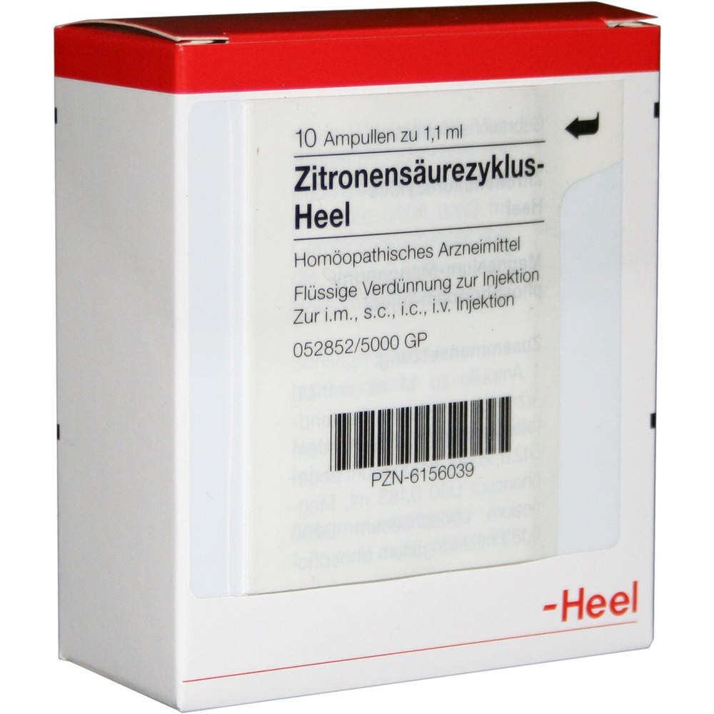 Acido Citrico Dosi Alimentari zitronensäurezyklus heel 10 fiale (confezione unica catalizzatori heel)